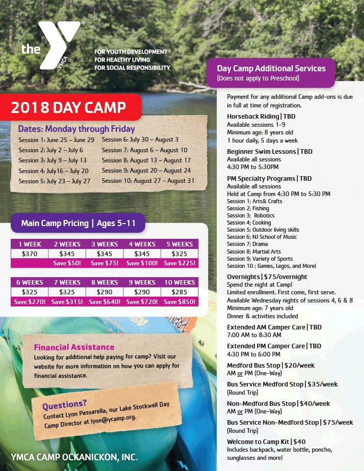 2018_ock_day_camp_pricing-1-rev-nov - YMCA OF THE PINES