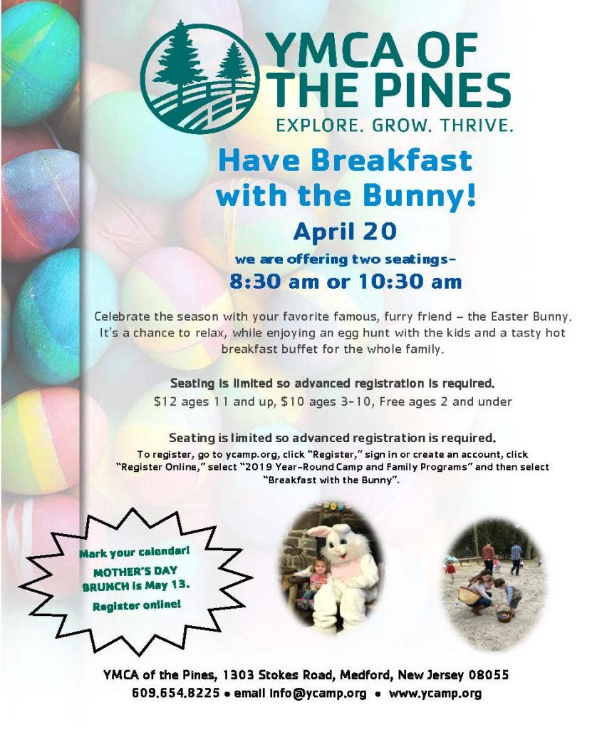 Breakfast with the Bunny @ YMCA of the Pines, Ocky Dining Hall