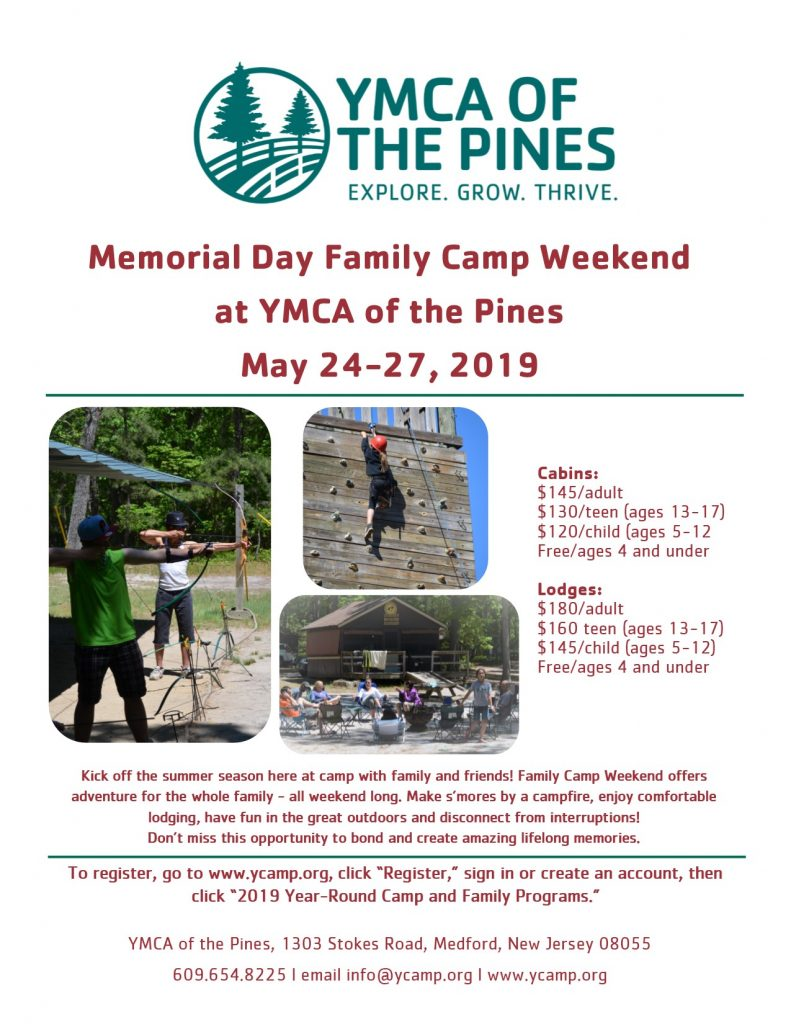 Memorial Day Family Camp Weekend @ YMCA of the Pines