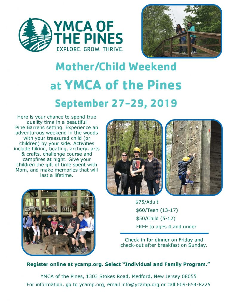 Mother/Child Weekend @ YMCA of the Pines | Medford | New Jersey | United States