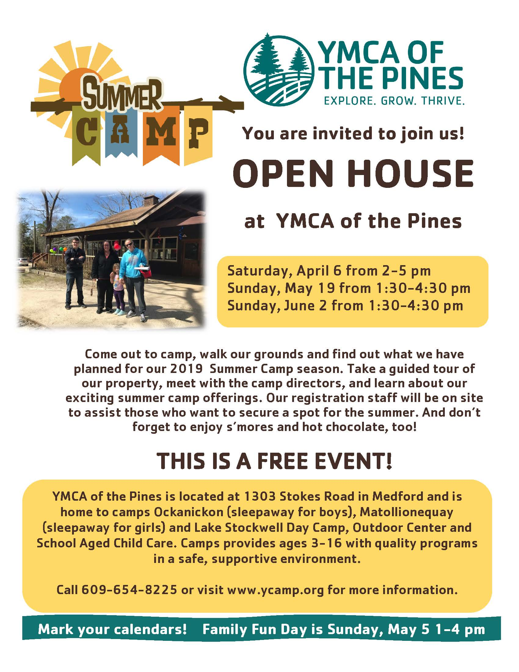 Open House - YMCA OF THE PINES