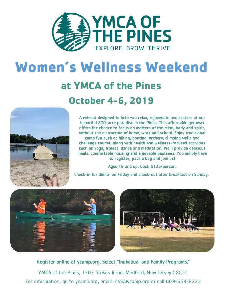 Women's Wellness Weekend @ YMCA of the Pines | Medford | New Jersey | United States