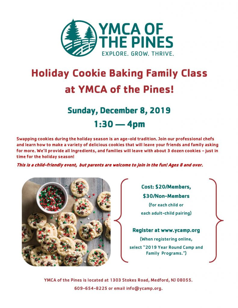 Holiday Cookie Baking Family Class @ YMCA of the Pines | Medford | New Jersey | United States
