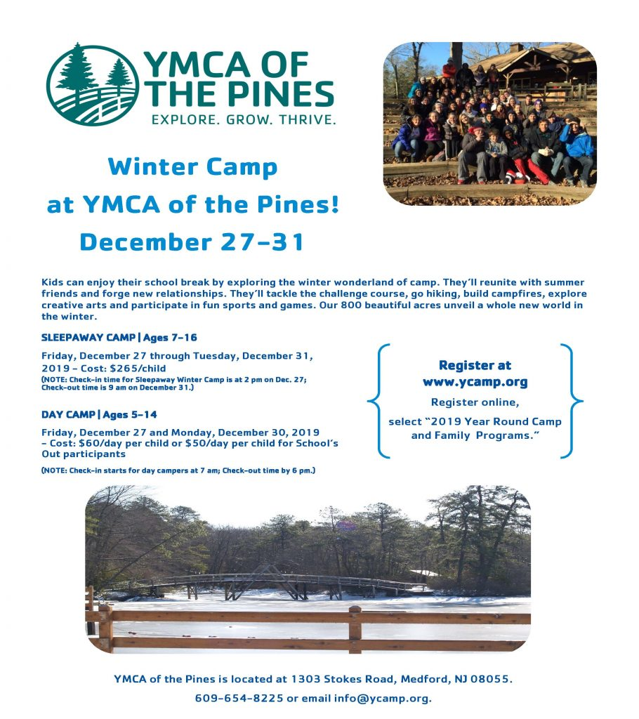 Winter Camp @ YMCA of the Pines | Medford | New Jersey | United States