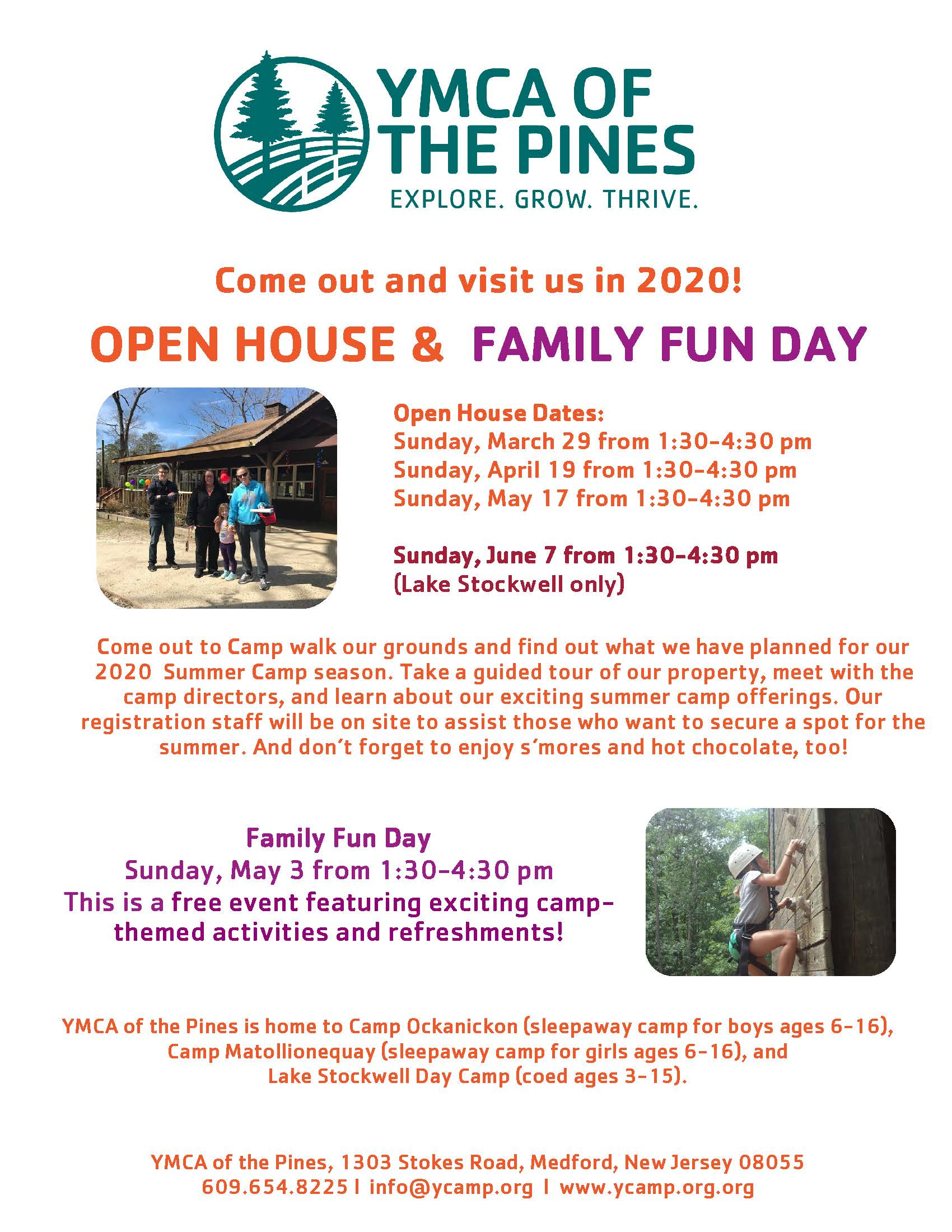Stockwell Open House @ YMCA of the Pines | Medford | New Jersey | United States